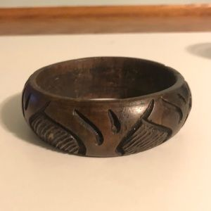 Jewelry - African wood carved bracelet